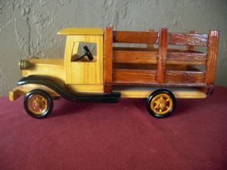 Vintage Toy Wooden Delivery Truck 10 inch Length Used