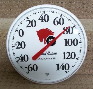 Large New Wheel Horse Lawn Garden Tractor Thermometer Indoor Outdoor