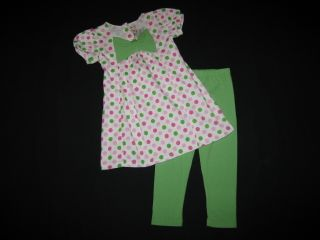 NEW Apple Green Dots Dress Pant Girls Clothes 6X Spring Fall Boutique