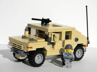 Custom Lego Army Humvee Hummer Complete Set with Minifigure Soldier