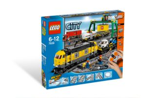 New Lego Power Function City Cargo Train Set 7939 4 Mini Figures Cars