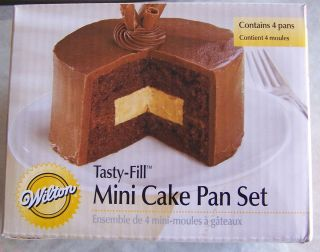 Wilton Mini Tasty Fill Cake Pan Set New