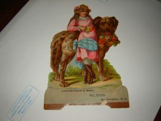 1900 Cardboard Die Cut Sign Lansburgh Washington DC