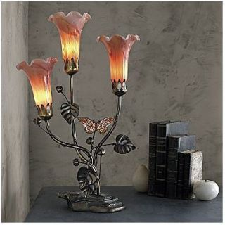 Dale Tiffany Butterfly Lily Table Lamp New 21 1 4H