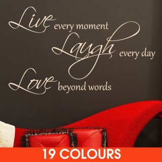 Live Laugh Love Quote Wall Sticker Decal Wall Art 3