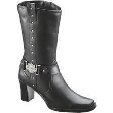 Harley Davidson Lindsey Womens Black Leather Dress Boots D85507