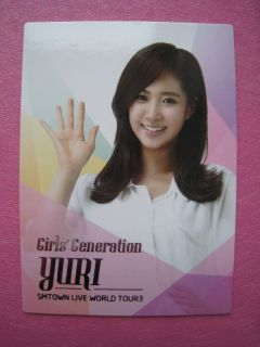 SNSD Girls Generation SM Town Live World Tour Trading Photo Card Yuri