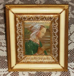 Antique Miniature Painting Madonna Italy