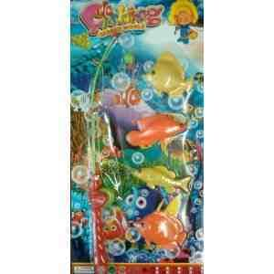 Magnetic Fish Game Toy Fishing Rod Net Childrens BN