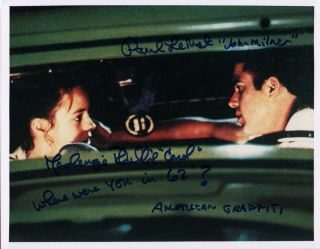 American Graffiti Signed Scene Mackenzie Phillips Paul Le Mat
