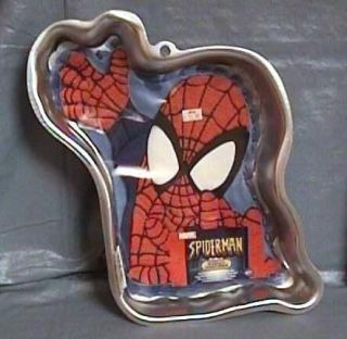Wilton Spiderman Cake Pan Mold w Insert Instructions New Unused