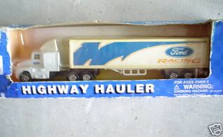 Vintage Maisto Ford Racing Tractor Trailer Truck