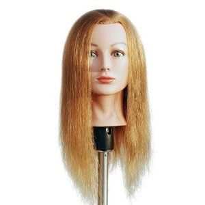 Marianna 24 Cosmetology Mannequin Head 100% Human Hair   Miss Barbara