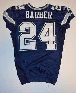 Marion Barber Game Used Worn Dallas Cowboys Jersey COA Photomatched