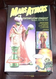 Mars Attacks Contemplating Conquest Screamin Model Kit Missing