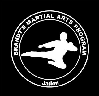 Martial Arts Personalized Dojo and student car window decal sticker