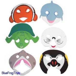 Foam Ocean Sealife Animal Face Masks Fancy Dress