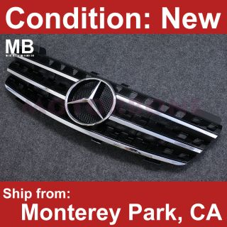 Mercedes Benz W164 06 08 Front Center Grille Black Ml