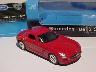 Mercedes Benz SLS AMG Welly 1 60 1 64 Diecast Small Scale 2 8 Inch