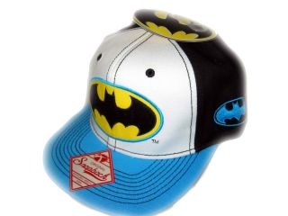 Super Hero BATMAN Snapback Flat Bill Baseball Cap Hat Adult Mens