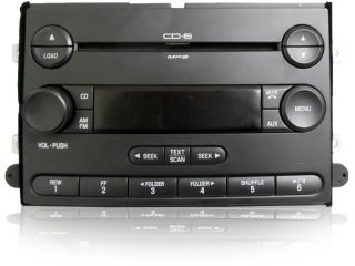 07 2007 Ford Fusion Mercury Milan Radio  Player 6 Six Disc CD
