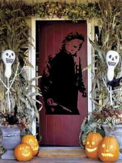 Large Michael Myers Holding Knife Halloween Vinyl Wall Sticker Decal