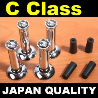 X4 AMG Color Mercedes Benz Chrome Door Lock Pin C Class 190E W201 W202