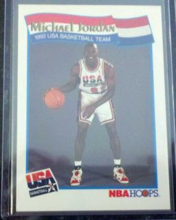Michael Jordan USA 9 Jersey Basketball Olympic Card Chicago Bulls