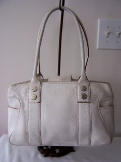 Michael Kors White Leather Satchel