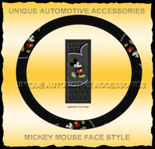 1pc Mickey Mouse Face Car Truck Steering Wheel Cover