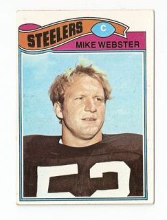 1977 Mike Webster Topps Rookie Football Trading Card 99