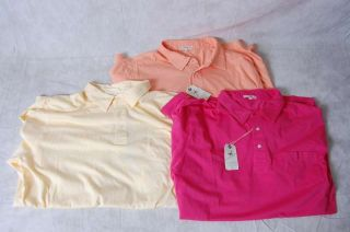 Three New Peter Millar Mens Golf Polo Shirts Color Red Yellow Orange