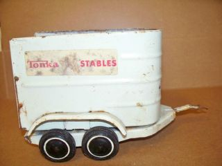 Vintage Tonka Stable Tin Horse Trailer