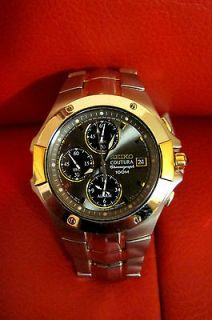 SEIKO Coutura Alarm Chronograph Mens Stainless Steel Watch SNA548
