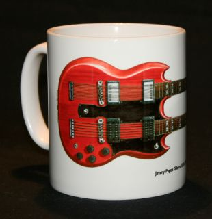 Guitar Mug. Jimmy Pages Gibson EDS 1275 illustration.