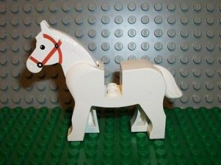 Lego White Horse Cowboy Western Castle Farm Indian Animal Mini Figure