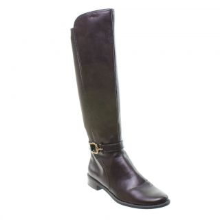 Anne Klein Carlene Fashion Riding Boot, Dark Brown   NEW