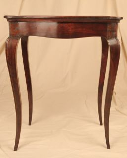 French Country Carved Fruitwood Antique One Drawer Side Table Stand