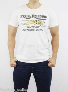 NWT TRUE RELIGION Brand Mens Outlaw Motorcycle Logo Print SS Vintage