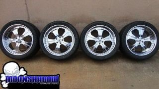 ASANTI AF 127 22 22x9.5 RANGE ROVER CHROME WHEELS RIMS WITH FALKEN