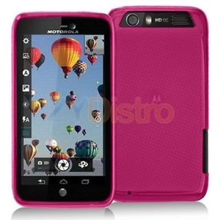 TPU Plain Rubber Skin Case Cover for Motorola Atrix HD MB886 Phone