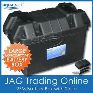 27M LARGE BATTERY BOX HOLDER   Boat/Marine/Ca ravan/Car/Truc k/4x4