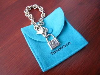 Tiffany & Co. Sterling Silver 1837 Lock Padlock Chain Link Bracelet