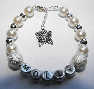Ladies Personalised Any Name Hello Kitty / Bridesmaid Charm Bracelet