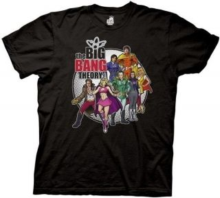Official The Big Bang Theory Comic Book Group Sheldon Black Tee T