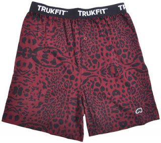 NEW MENS TRUKFIT LOGO LEOPARD PRINT BORDEAUX BURGUNDY UNDER WEAR