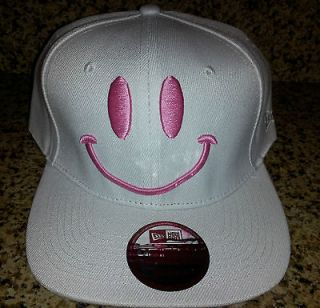Tae Yang Smiley Face PINK Snapback Hat BRAND NEW