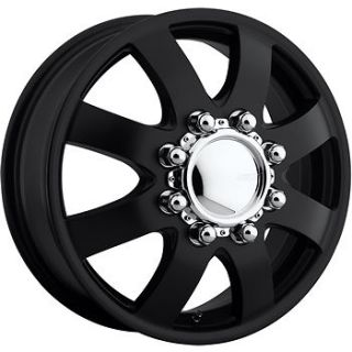 17x6.5 Black American Eagle 97 Dually Front Wheels 8x6.5 +109