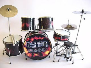 Miniature Drum Set JOHN BONHAM JIMMY PAGE   LED ZEPPELIN Music Gift