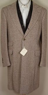 BRUNELLO CUCINELLI COAT $4495 BROWN CASHMERE WITH BROWN VEST TRENCH 40